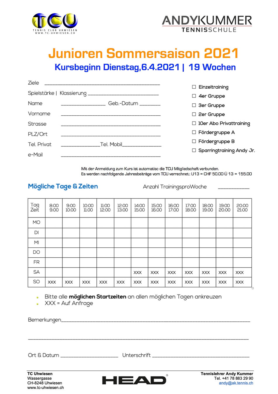 Anmeldung_Junioren Sommer 2021 | AKT Ten