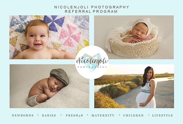 Los Angeles Newborn photography Nicolenjoli referral program