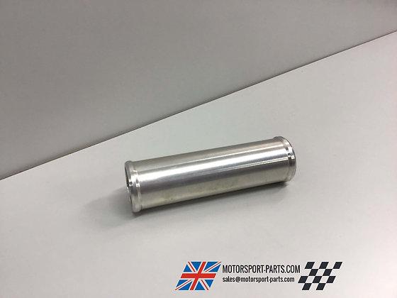 28mm Aluminium, 100mm Long Machined, Beaded Hose Joiner