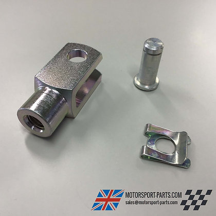 Short Brake Clevis 10mm with Pin 20mm Square Heavy Duty