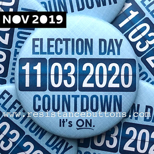 Election Day 2020 Countdown. It's ON.