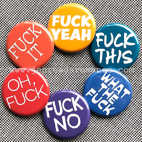 FUCK Button Pack: Rainbow