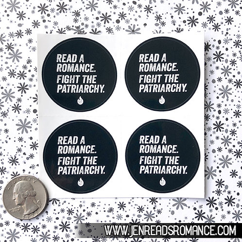 Sticker Sheet: Read a Romance. Fight the Patriarchy.