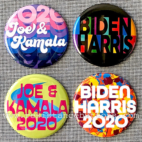 Pack of Biden/Harris 2020 Buttons: Multicolored