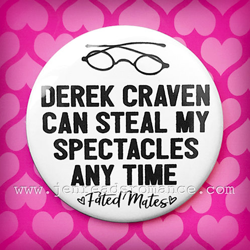 Button: DEREK CRAVEN CAN STEAL MY SPECTACLES ANY TIME