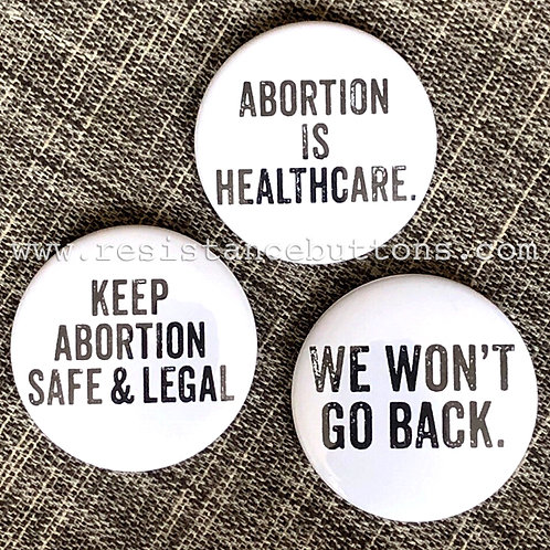 Reproductive rights (Set of 3 buttons)