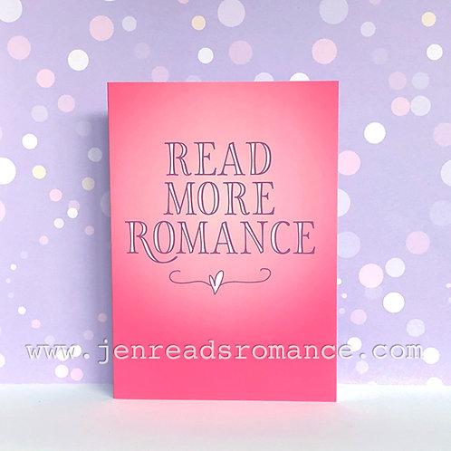 Notecard: Read More Romance