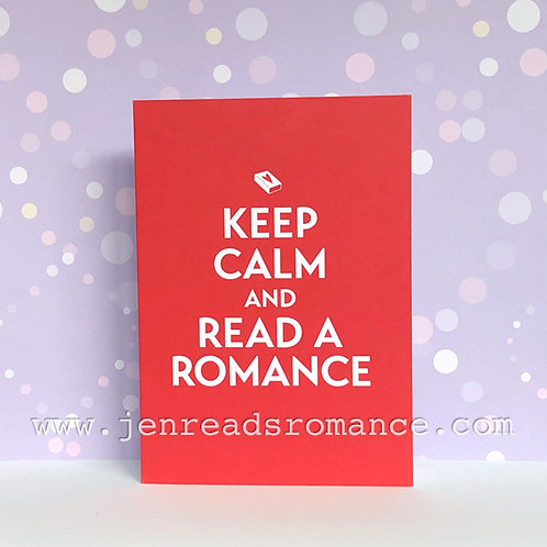 Notecard: Keep Calm and Read a Romance