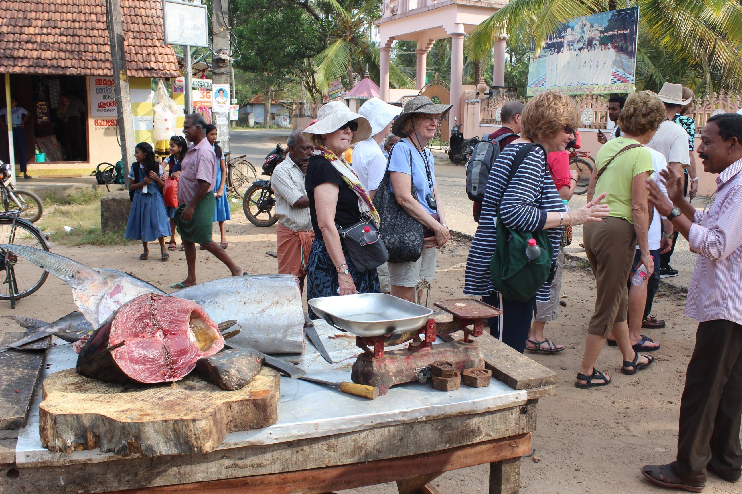 Local fish market visit