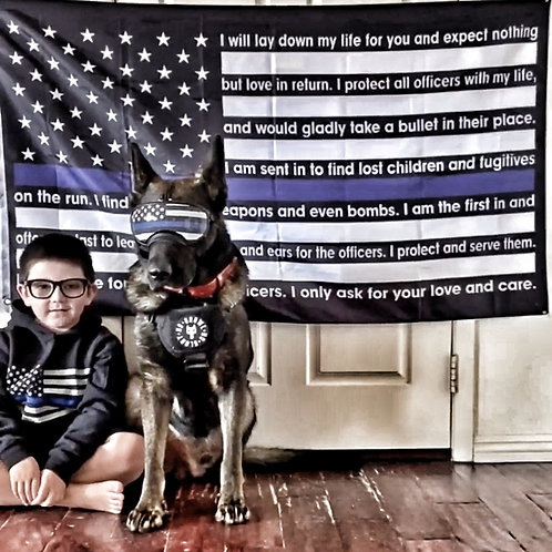 K9 Prayer Flag/Decal Combo
