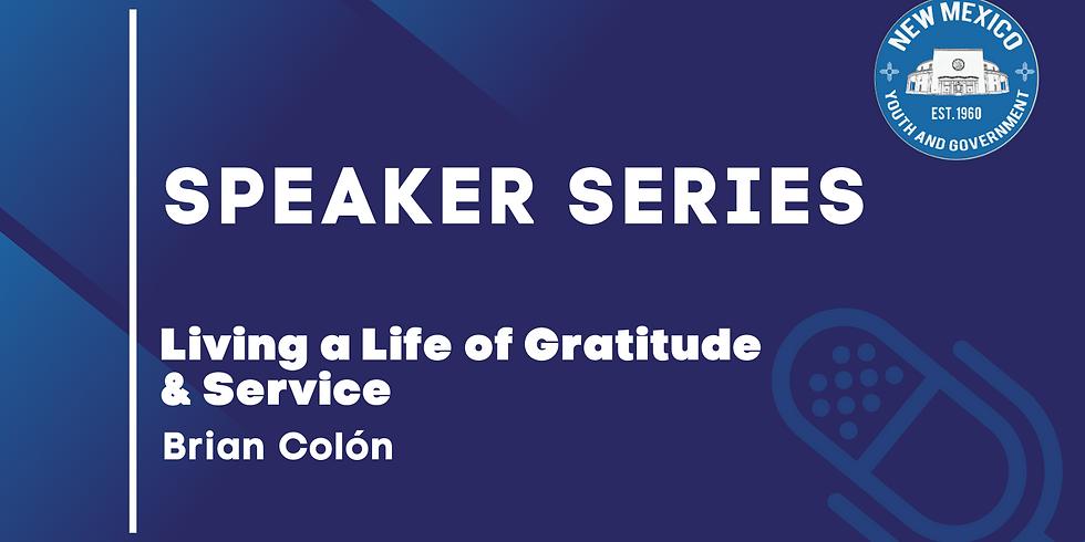 Speaker Series: Brian Colón