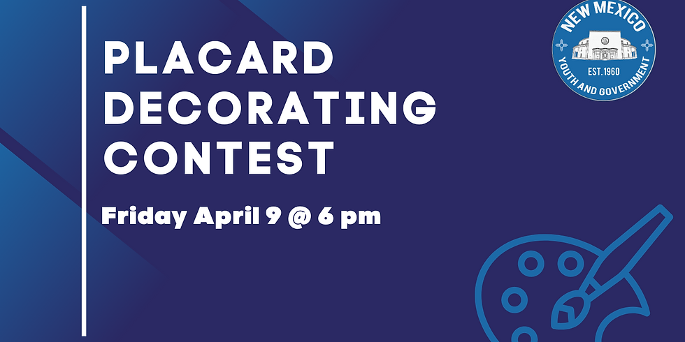 Placard Decorating Contest