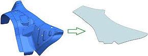 rozkroje blach na arkuszu DESIGN 3D CNC