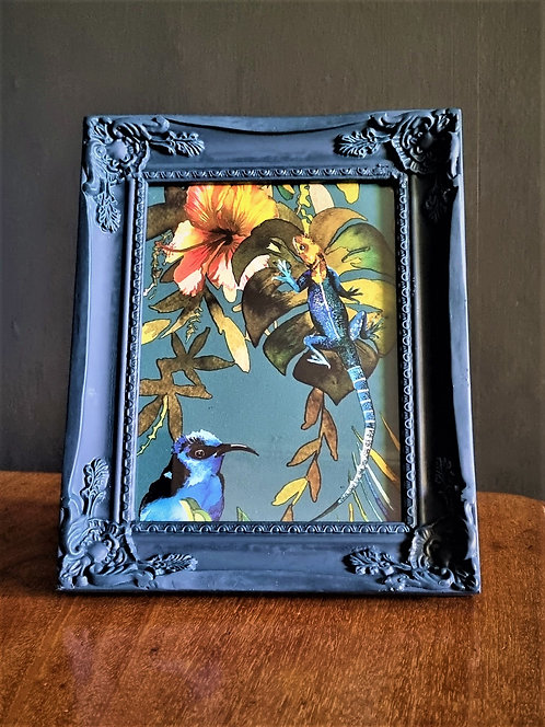 Framed tropical picture