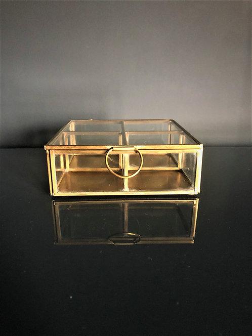 Gold & glass jewellery box