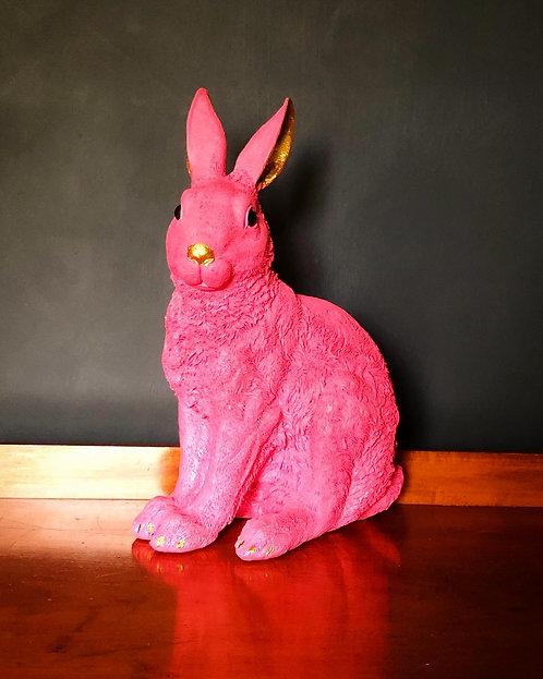 Pink & gold rabbit