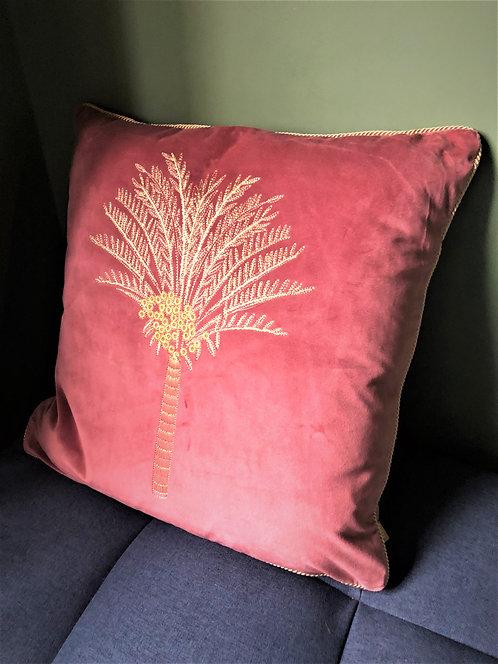 Rose Palm Tree Cushion