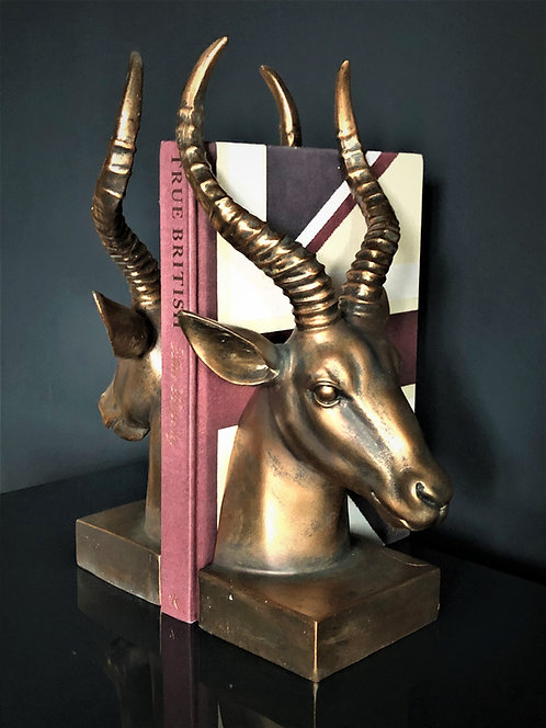 Copper Antelope Bookends