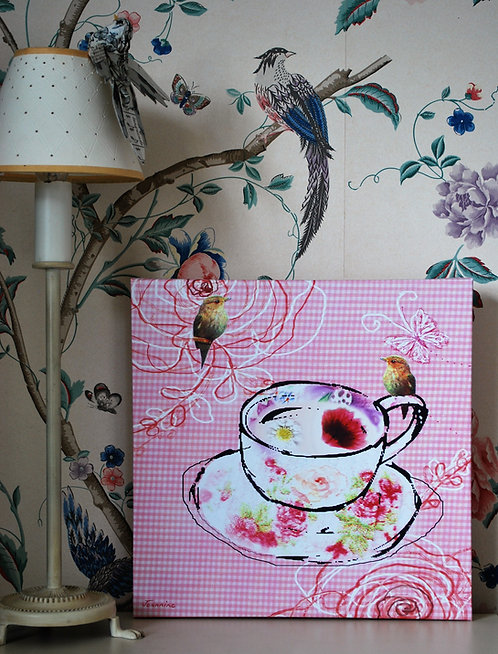 Teacup canvas