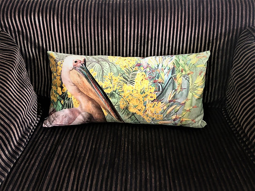 Green Pelican Cushion
