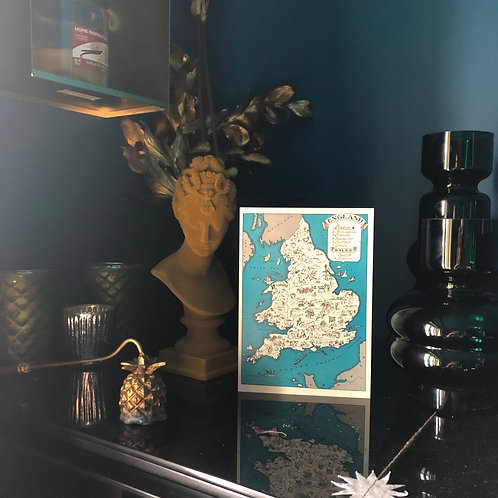 England & Wales 1930 Card