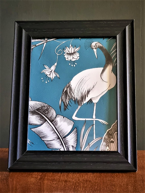 Framed bird in paradise picture