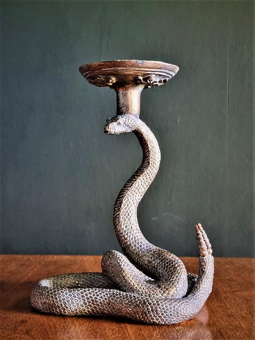 Snake candle holder