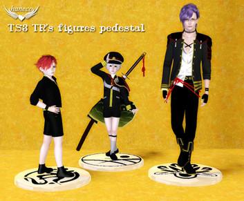 TR's figures pedestal & figure pose