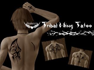 Tribal Wing tatoo 01,02,03