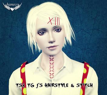 TS3 TG J's Hairstyle & stitch