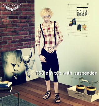 TS3 am clothes with suspender