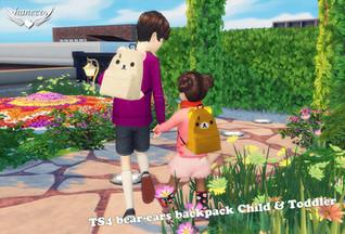 TS4 bear-ears backpack Child & Toddler