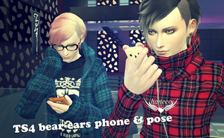 TS4 bear-ears phone