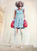 Anya JanssenPeople say I'm different 4220 x 160 cmolieverf op linnen