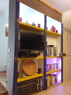 la bibliothèque du salon les Bambous
