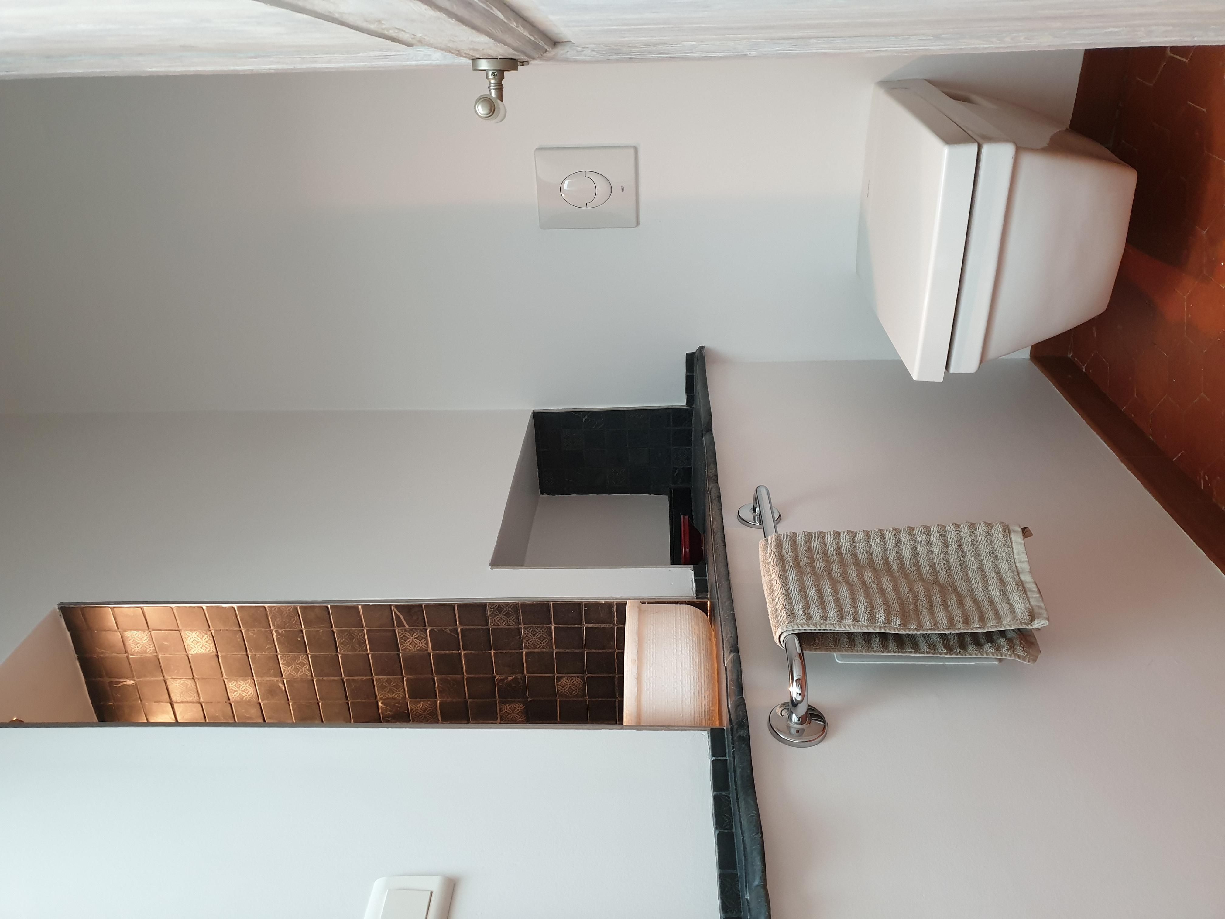 toilettes de la chambre 1 lit en 140cm