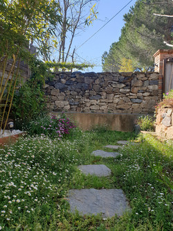 Jardin privé logement les Bambous
