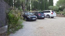 une partie du parking du Mas