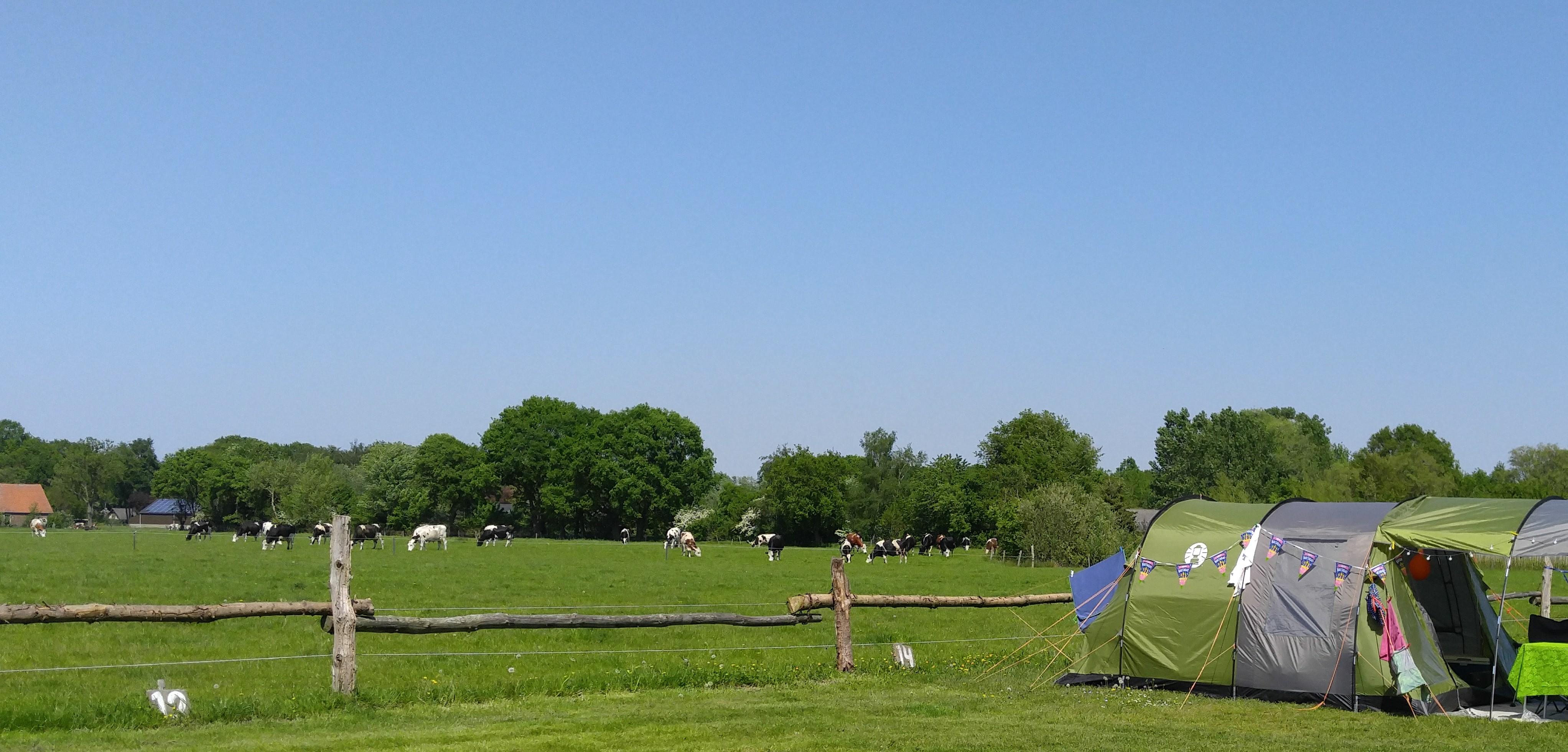 landelijk kamperen in de herfstvakantie.