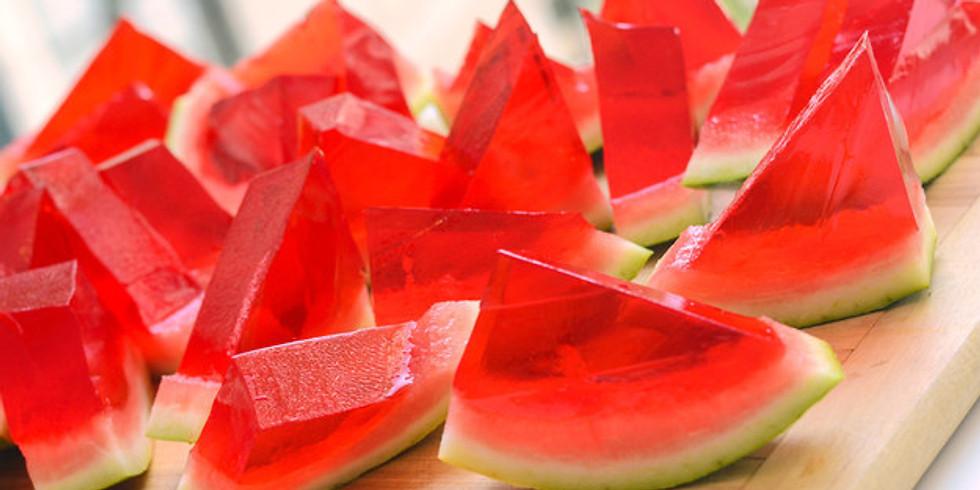 Gelatina en cáscara de fruta
