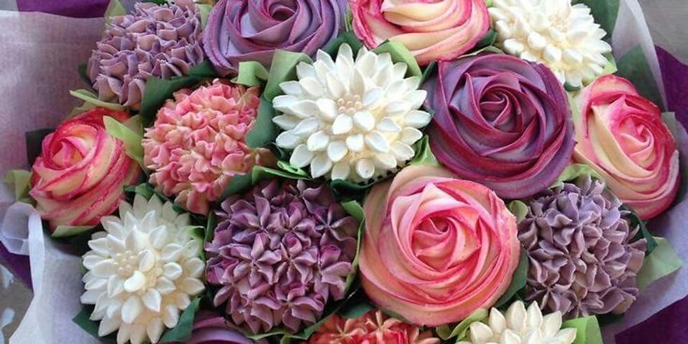 Curso de Flores con crema batida