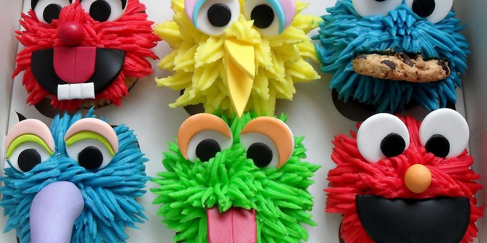 "Cupcakes de ""Plaza Sésamo"""