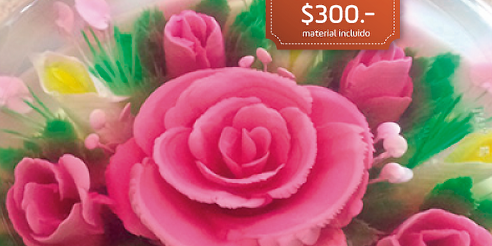 Gelatina artística floral