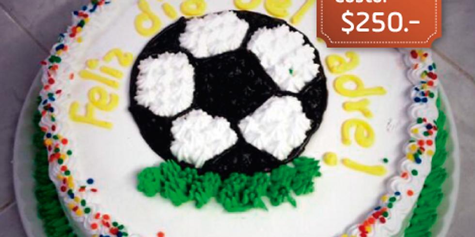 """Decoración de pastel con crema """"Día del Padre"""""""