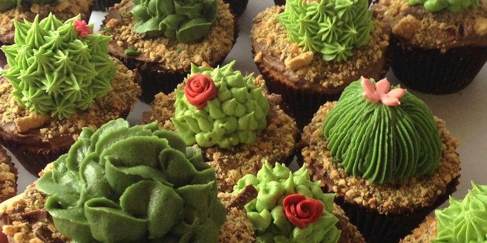 """Decoración de pastel y cupcakes """"Cactus"""""""