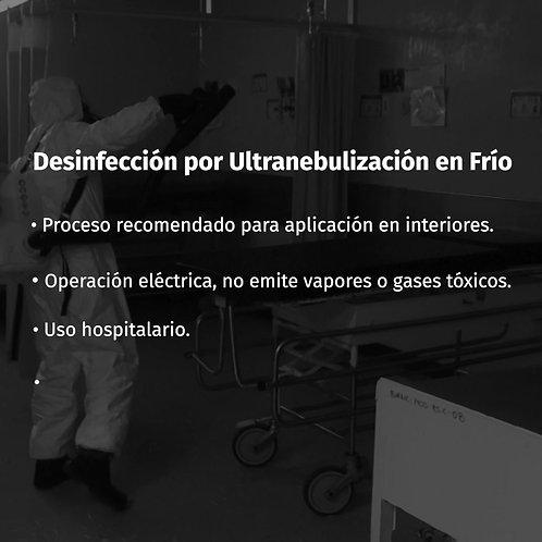 Tipo de desinfección: Ultranebulizadora en frío