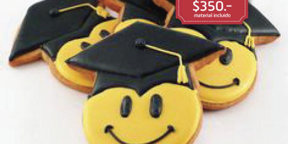 Galletas decoradas para Graduación