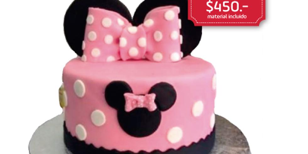 Pastel de FONDANT de Minnie Mouse