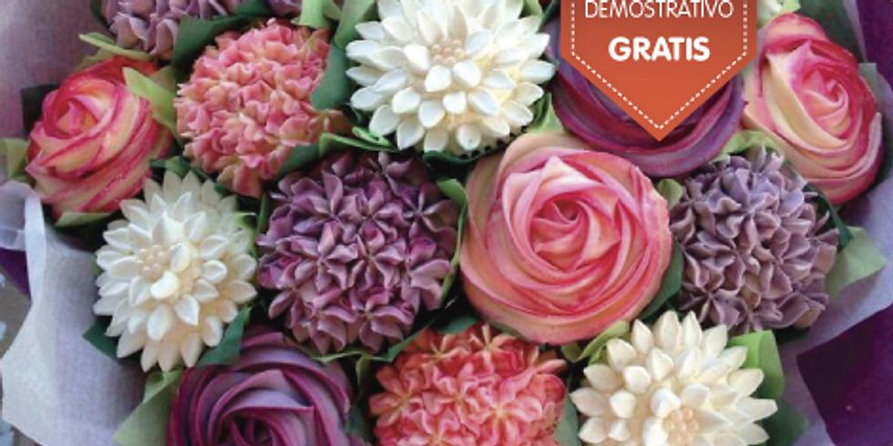 Flores con crema