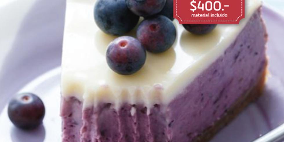 Tarta de blueberries con queso